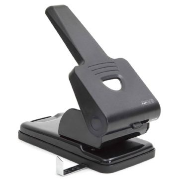 RAPESCO HEAVY DUTY HOLE PUNCH 65 Sheet Capacity- Metal Construction Black 865-P2
